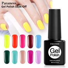 Paraness 29 Colors Uv Gel 8ml Nail Polish Art Tips Extension Manicure Diy Tools Decorations Professional