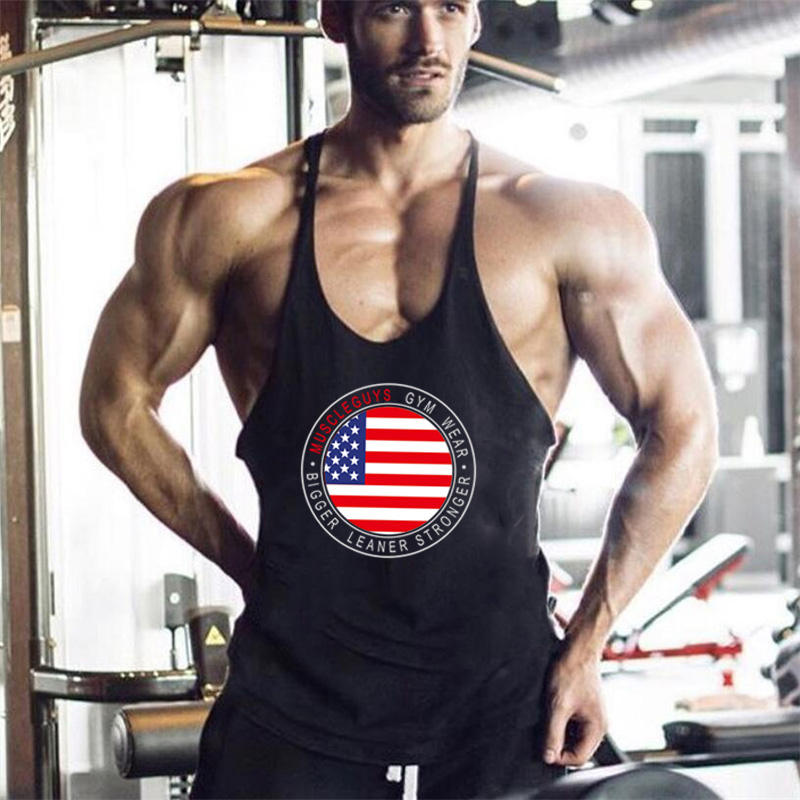Brand bodybuilding fitness clothing gyms stringer   tank     top   men musculation vest men undershirt solid Muscle   tank   blank   Tops