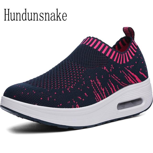 Hundunsnake Sok Sneakers Vrouwen Barefoot Platform Schoen Gebreide r6xEwnZ0r