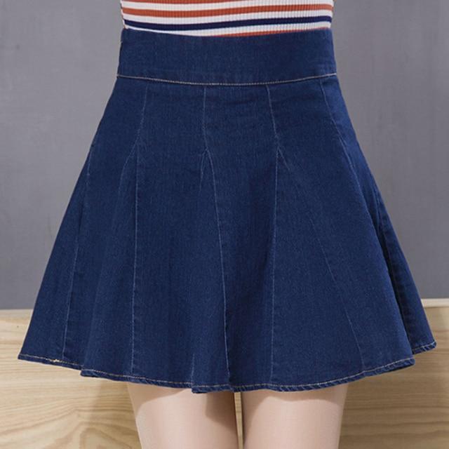 Aliexpress.com : Buy Korean Fashion Girls Cute A Line Black Denim ...