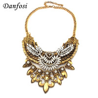 New Design For Women Charm Neck Bib Rhinestone Boat Anchor Pendants High Quality Vintage Accessories Exaggerate