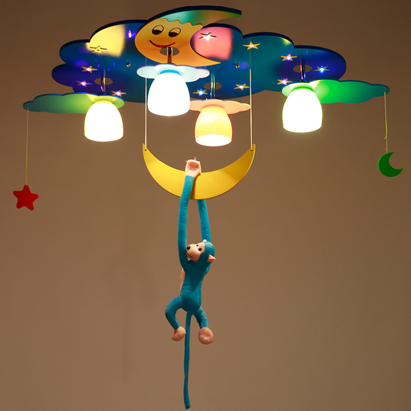 Modern pink blue surface mounted children ceiling lamps for Kids ceiling lights for bedroom