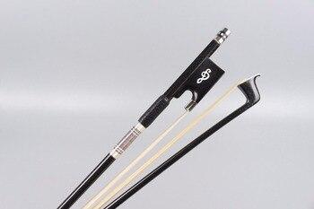 1X 4/4 Violin Bow Carbon Fiber Straight balance AAA horse hair Nice Frog#CC13