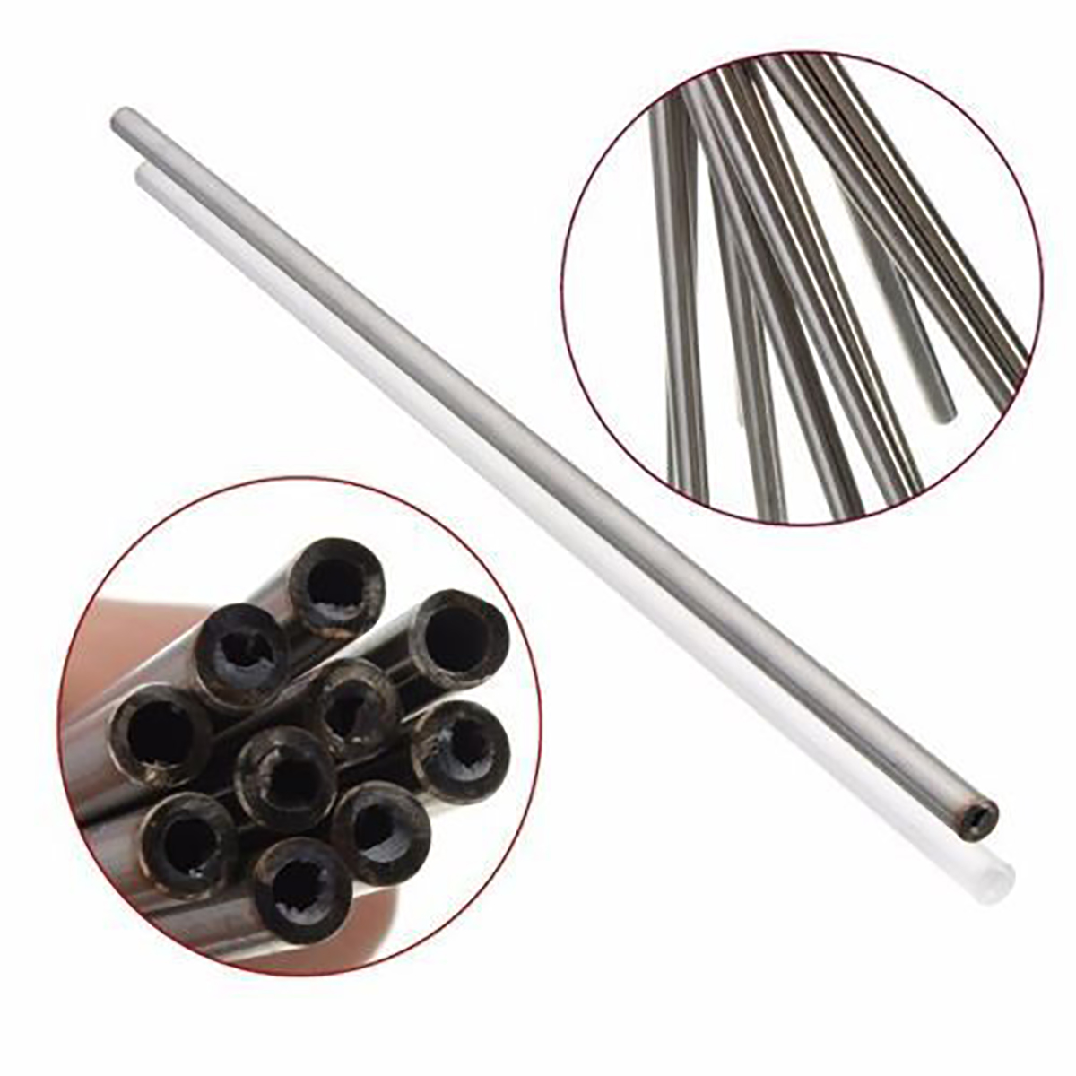 1pc Seamless Capillary Tube 304 Stainless Steel Tube Stick 6mm OD 4mm ID 250mm Length With High Temperature