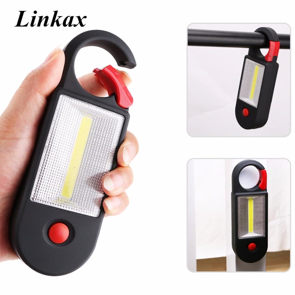 Popular Brand 4 Led+cob Magnetic Working Light Folding Hook Tent Lamp Torch Linternas Lanterna 2 Modes Flashlight Handy Lighting Use Aaa Led Lighting