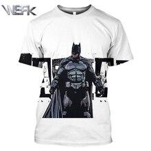 WSFK Personality Batman Short Sleeve Sports T-shirt Anime 3D Print Casual Loose Sweatshirt T-Shirt Pullover