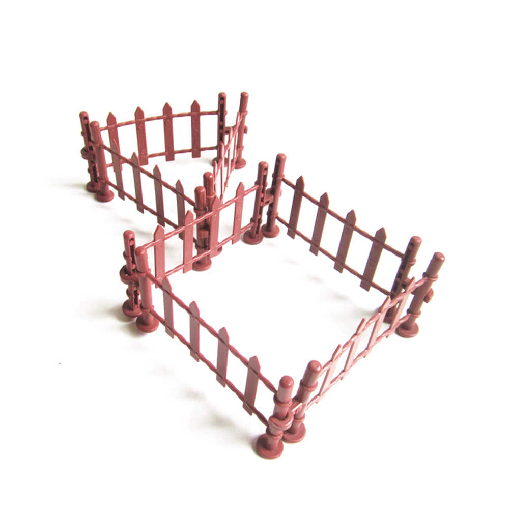 7pcs Railway Modeling Model Building Kit Military Fence Rail Board Plastic  Toy Soldier Army Men Accessories