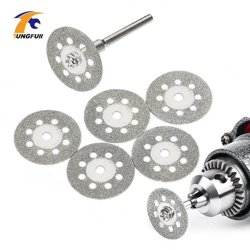 Tungfull Dremel Accessories Diamond Grinding Wheel Saw Mini Circular Saw Cutting Disc Dremel Rotary Tool Diamond Disc 6x 22mm