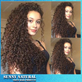 150% density Brazilian afro kinky curly hair wig high quality cheap synthetic lace front wig kinky curly wigs for black women