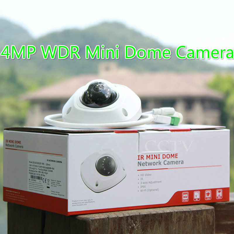 original english ds 2cd2542fwd is 4mp wdr mini dome network camera built in microphone  audio