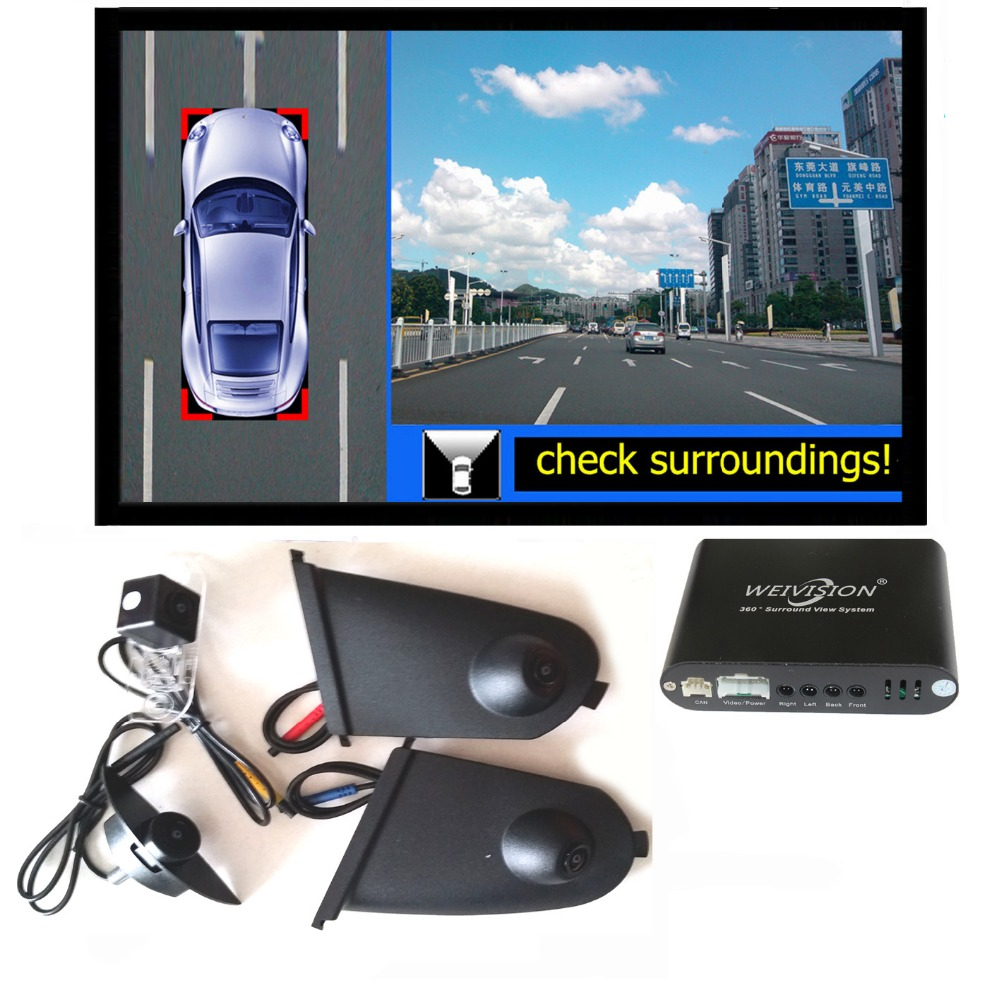 360 Degree Bird View Car Dvr Record With Parking Monitor