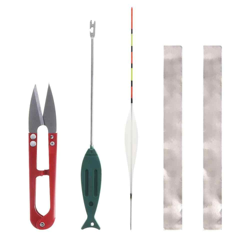 33 قطعة/المجموعة معدات الصيد تعويم الرصاص الجلود الفضاء الفول خطاف الصيد دعوى أدوات الصيد مع مربع