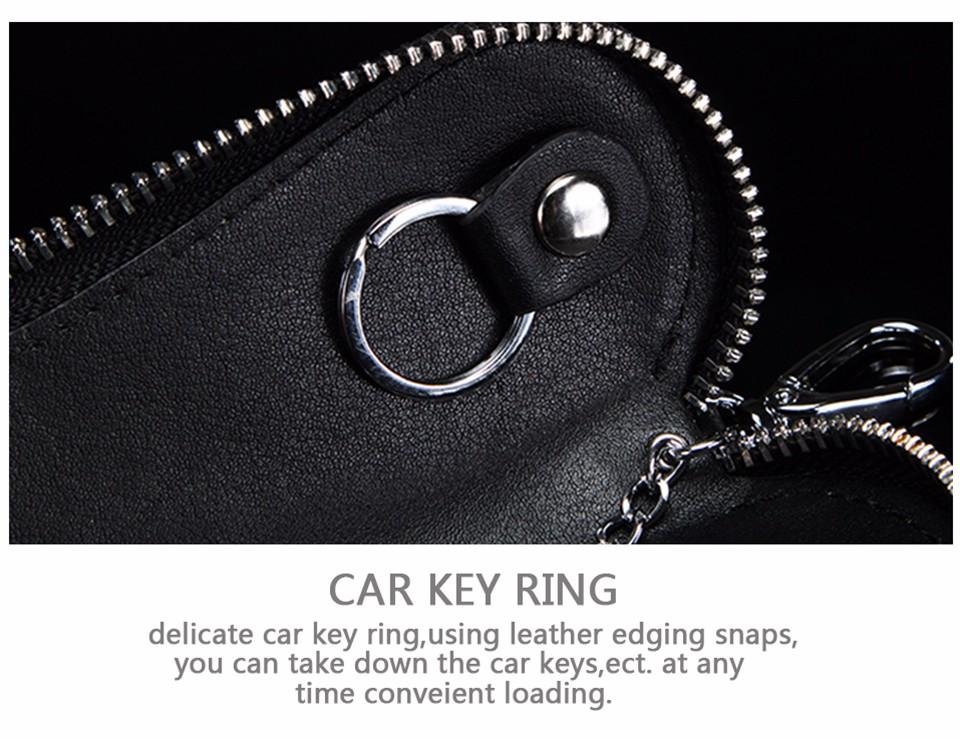 محفظة مفاتيح للرجال من الجلد الطبيعي 24