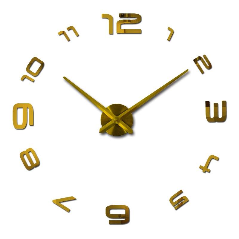2019 nový křemen 3d diy nástěnné hodiny domácí dekorace akrylové zrcadlo hodiny hodinka moderní hodinky nálepka doprava zdarma skutečné