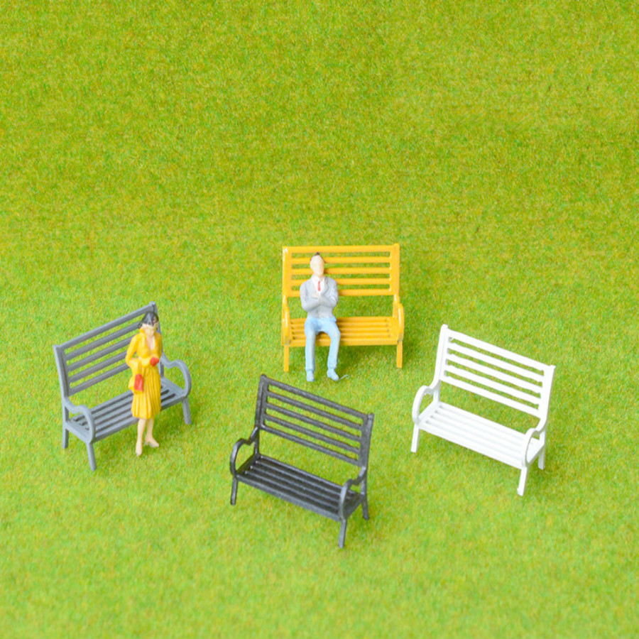 Outstanding Us 36 12 8 Off 50Pcs Lot Color Architectural Model Making Miniature White Plastic Ho N Scale Model Garden Park Bench For Diorama In Model Building Forskolin Free Trial Chair Design Images Forskolin Free Trialorg