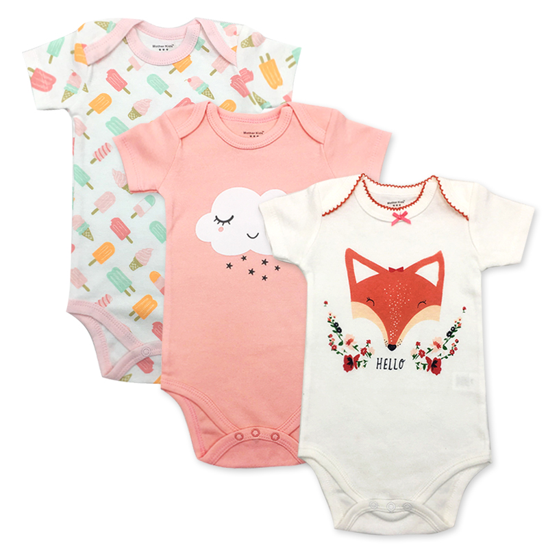 Newbron 2018 Summer Short Sleeve Baby Girl Rompers Set Baby Jumpsuit Boy Girls Set Ropa Bebe Baby Boy Girl Clothes