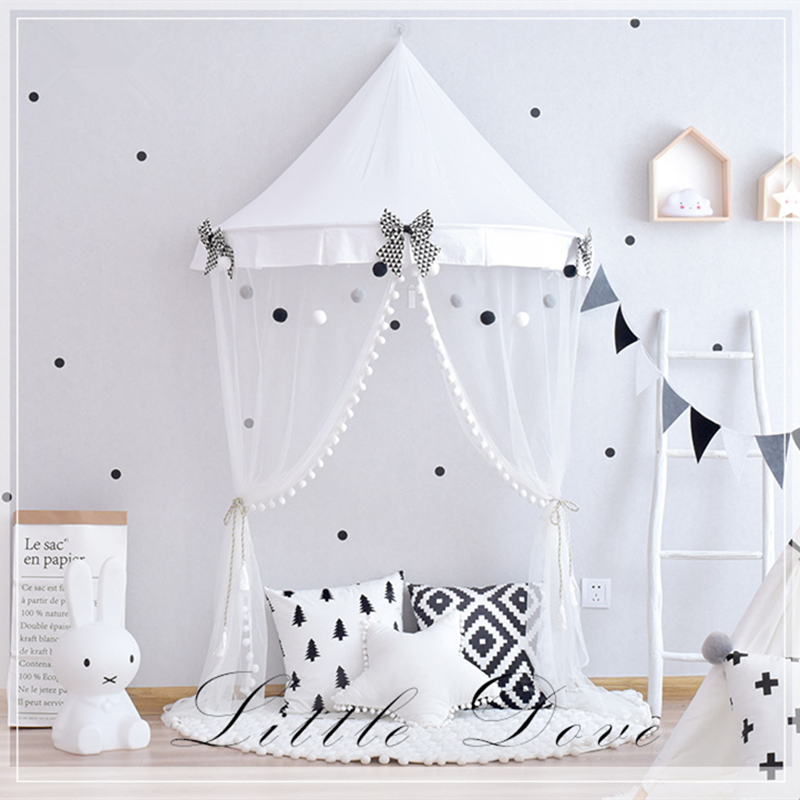Furniture Children Furniture Sets Bright Nordic Style Childrens Indoor Tent Game House 100% Cotton Canvas Princess Castle Play House Toys Boys And Girls Baby Gifts
