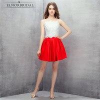 Red And White Lace Prom Dresses Short 2019 Vestido De Festa Curto Spaghetti Straps Open Back Mini Formal Evening Dress