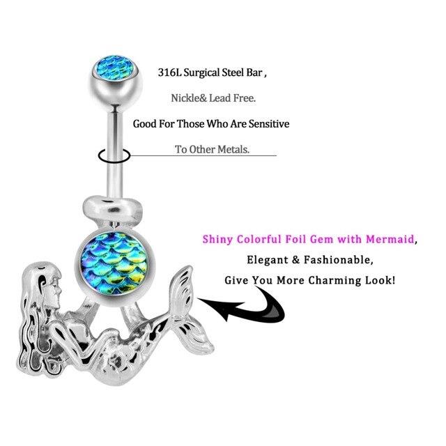 Купить кольцо для пупка женское из хирургической стали 14 г