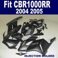 100% Injection body fairing kit for 2004 2005 Honda CBR1000RR CBR 1000 RR 04 05 CBR 1000RR matte black fairings parts
