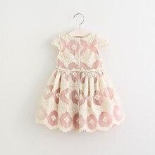 VORO BEVE 2017 Broderie Filles Robe dentelle Fille Vêtements Princesse Robes Fille Costume Enfants filles 2 couleur