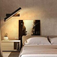 Постмодерн минималистский прямоугольный светодиодный настенный светильник Гостиная ТВ фон fitolamp прикроватная тумбочка для спальни прохода исследование бра
