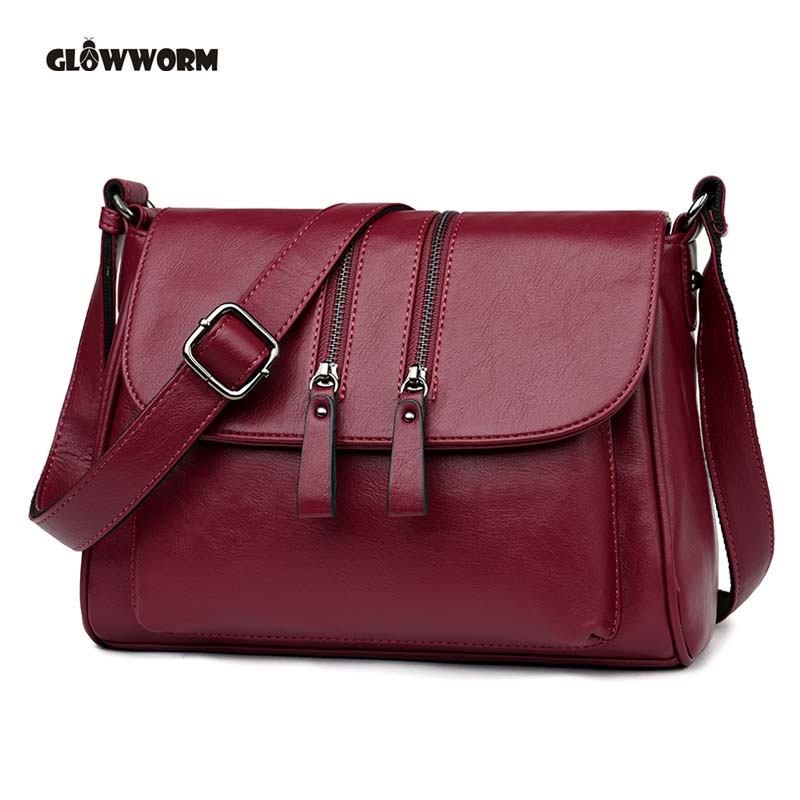 Genuine Leather Messenger Bag For Women Shoulder Bags Casual Brand Tote Bag Handbags New Design Shell Bag women shoulder bags leather handbags shell crossbody bag brand design small single messenger bolsa tote sweet fashion style
