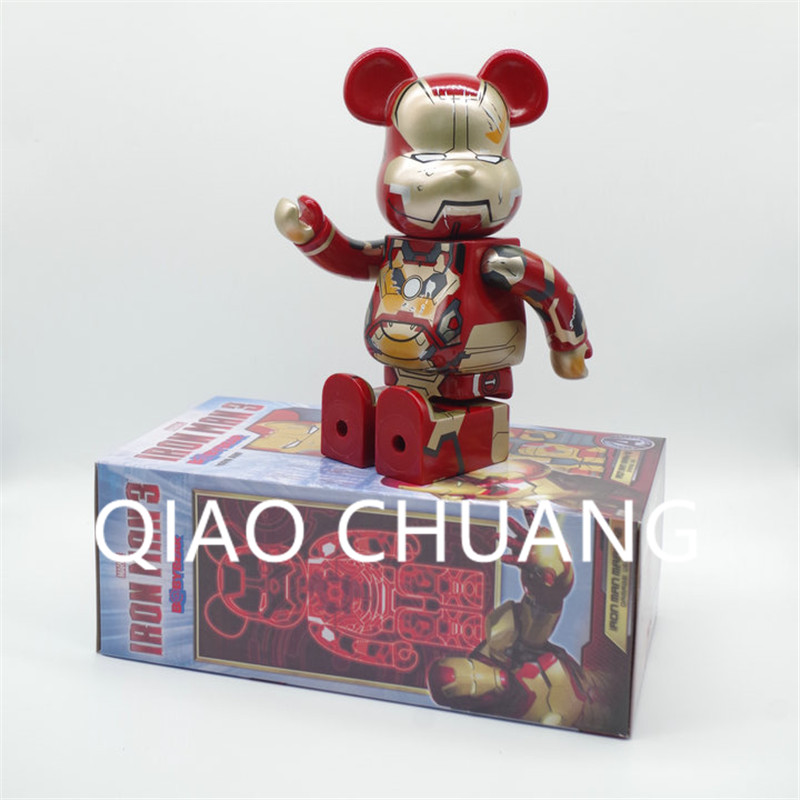 Cartoon Bearbrick Chewbacca Iron Man Avengers:Infinity War Superhero Justice League Tony Stark PVC Action Figure Model Toy G682 high quality oversize 52cm bearbrick be rbrick matt diy pvc action figure toys bearbrick blocks vinyl doll 3 color optional