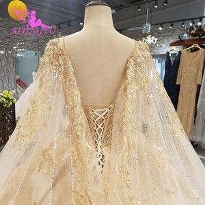 Image 4 - AIJINGYU Wedding Dress Elegant Gowns Ball 2021 2020 Hot Lace Plus Size Rhinestone Modern Gown Bridal Designers