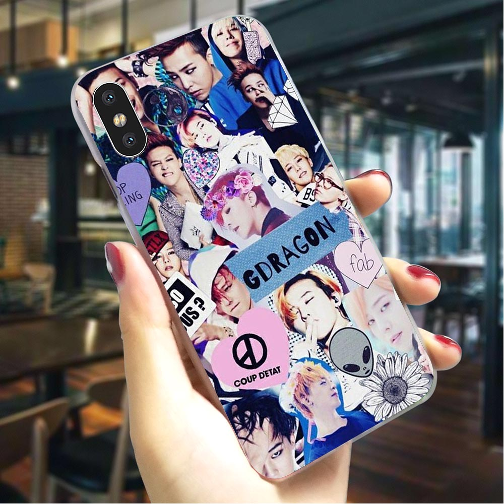 Plastic Phone Case for iPhone XR G-DRAGON <font><b>BIGBANG</b></font> GD Cover for iPhone X Covers Xs Max 6 6S 8 Plus 7 5S 5 SE image