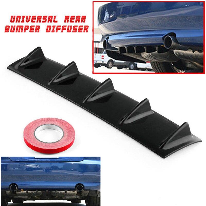 Vehemo 5 крылья Черный Сменный Универсальный задний бампер дефлектор автозапчасти автомобиля плавник акулы спойлер плавник акулы