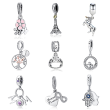 2018 100% 925 Sterling Silver Bead Unicorn Dangle Charms Beads Fit Original Pandora Bracelet Necklace Authentic Jewelry MUM Gift