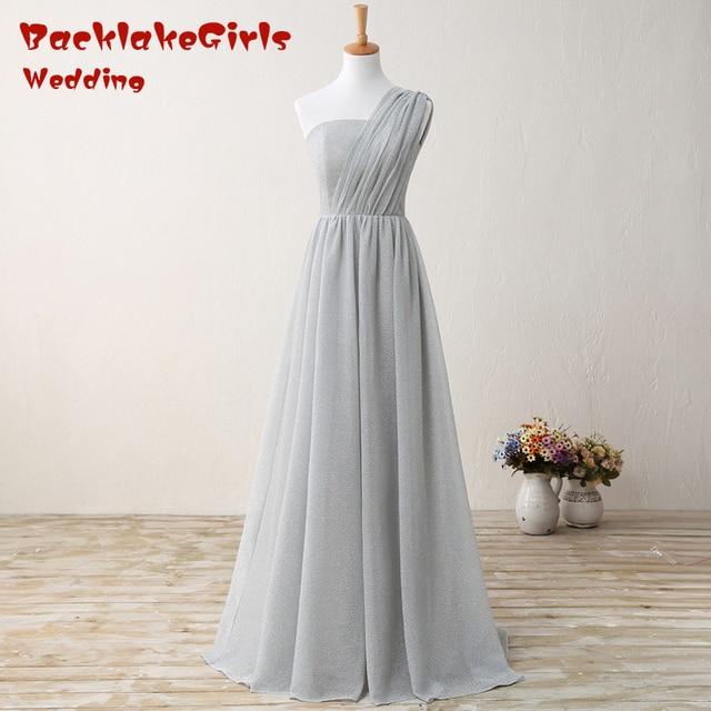 BacklakeGirls Elegant and Illusion Evening Gown One-shoulder Chiffon Noble  Normal Dress Floor-Length Communion dress 235b5296c280