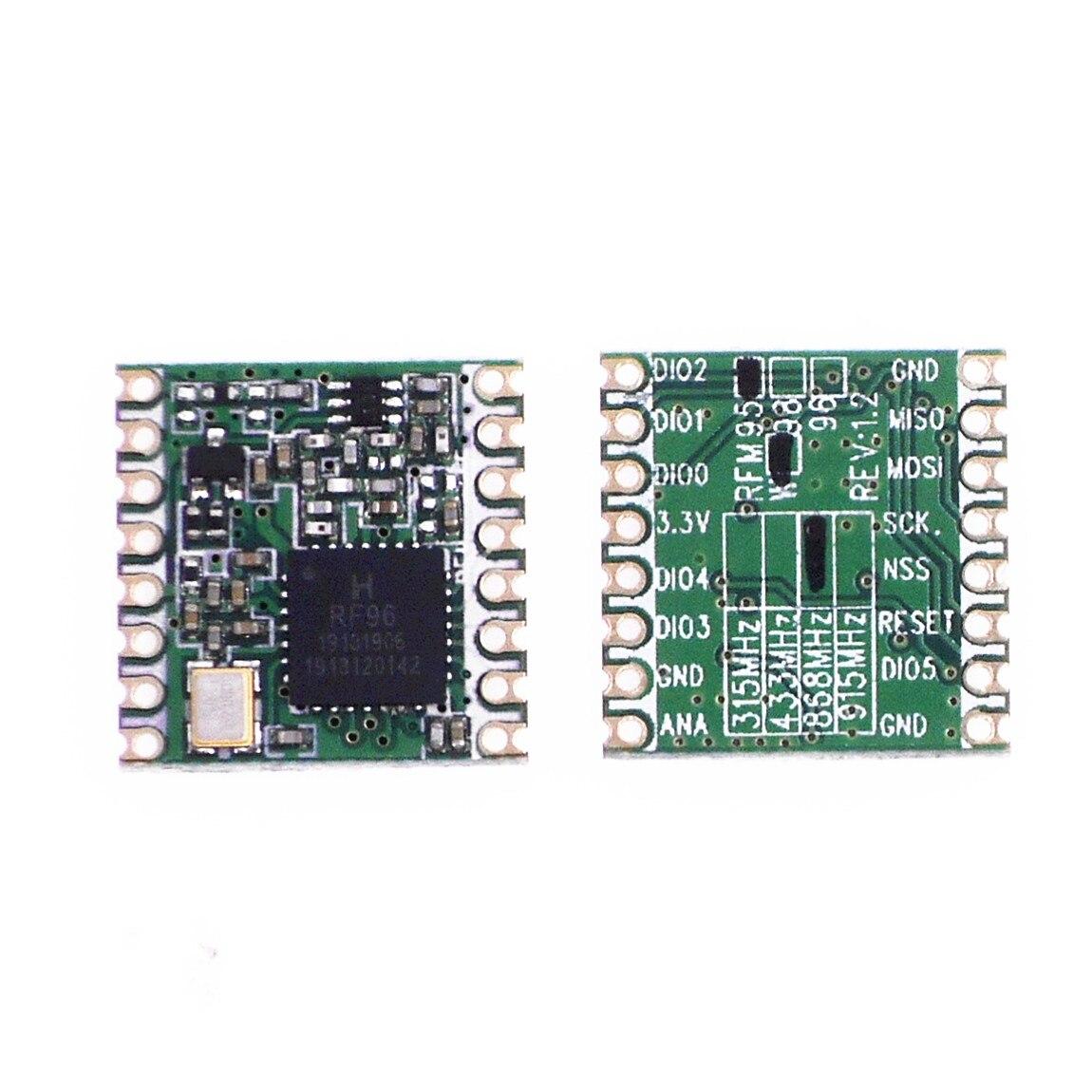 100pcs/lot RFM95 RFM95W 20dBm 100mW 868Mhz 915Mhz DSSS