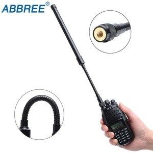 Image 2 - ABBREE AR 148 معقوفة الجيش التكتيكية VHF UHF المزدوج الفرقة SMA M الذكور هوائي forHandheld GPS غارمين ألفا 100 50 استرو 430 320 900