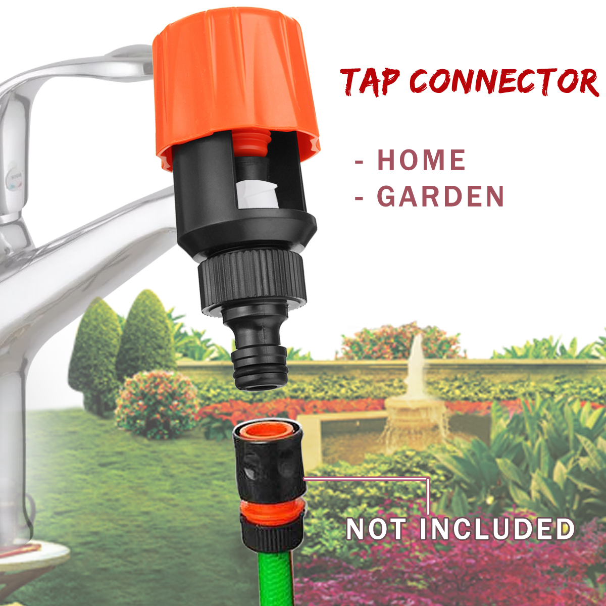 Tap-Adaptor-Tools Hose Pipe-Joint-Tube Quick-Coupling-Connect Plastic Universal Garden