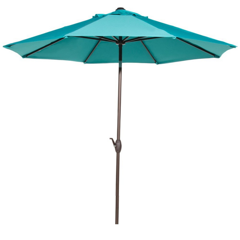 Abba Patio 9-Feet Umbrella with Push Button Tilt and Crank - Turquoise