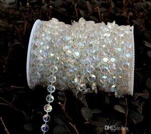 99 stóp shinny diament kryształ akrylowy koraliki rolki wiszące sznur girlandy ślub urodziny dekoracje świąteczne DIY kurtyny