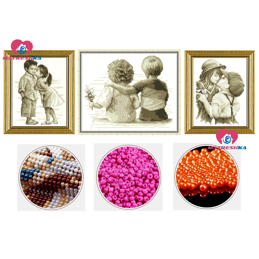 3D Accurate Printing Diy Beads Embroidery Kids Pure Love Beadwork Home Decor Crafts Needlework Home Decoration Accessories Gifts