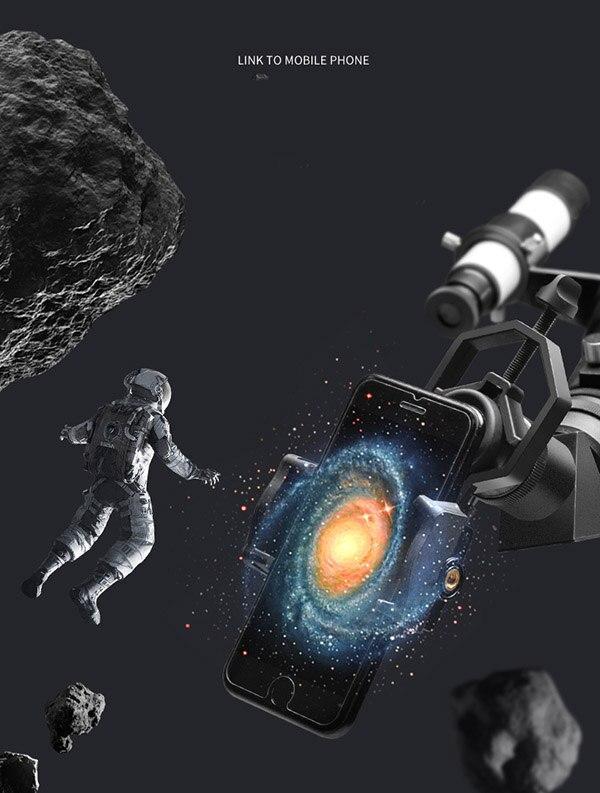 astronomy telescope with phone