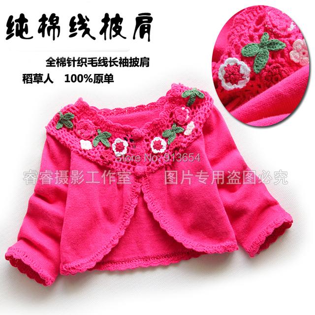 New 2014 primavera outono roupas de bebê outerwear capa de malha cardigan todo jogo wraps crianças jaquetas e casacos
