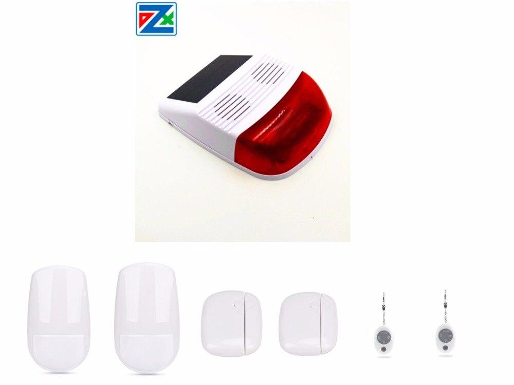 Shop For Cheap 433868mhz Outdoor Wireless Gsm Sms App Control Flash Strobe Solar Powered Host Siren System With Motion Sensors/door Sensor Alarm Siren Security Alarm