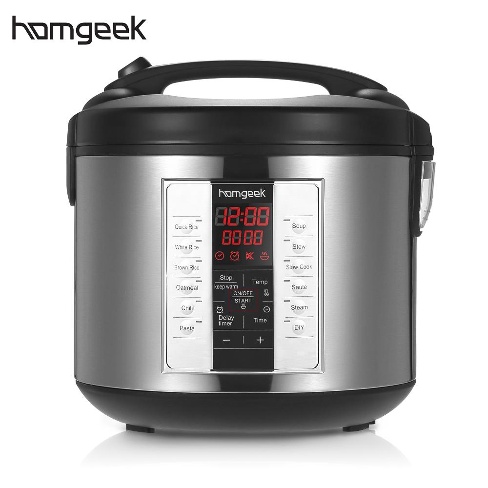 homgeek 5l professional rice cooker with food steamer. Black Bedroom Furniture Sets. Home Design Ideas