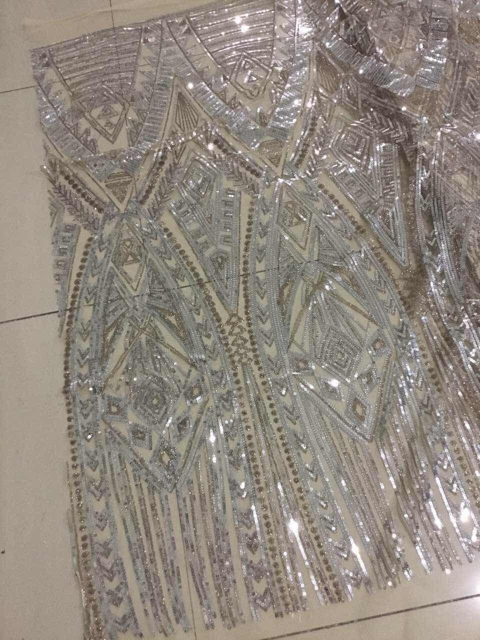 Fantastische ontwerp nigeriaanse tule kant stof Franse Netto Kant Stof sat 6622 borduren mesh stof-in Kant van Huis & Tuin op  Groep 1