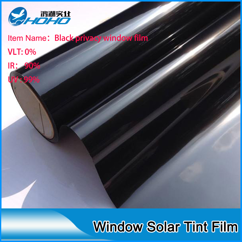 50cm152cm 100 Heat Rejection Building Window Tint Film Solar Control Black Privacy Us465