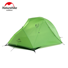 Naturehike with Footprint 2 Person Camping Tent Waterproof 20D Silicone Fabric Double layer Tent 4 seasons