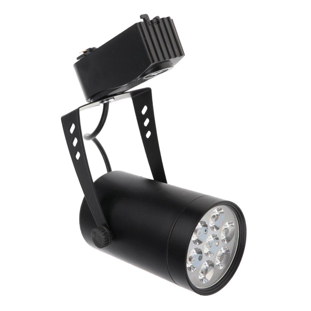 Lámpara de luz de pista LED de 7 W Pantalla de tienda foco de luz negro Base blanco cálido Reflector LED 50W 30W 20W 10W reflector Led ultrafino al aire libre 220V IP65 lámpara de pared al aire libre Luz de inundación Led