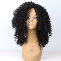 Amir Medium Long Afro Kinky Curly Synthetic Wig For Black Women With Baby Hair Lolita Wigs