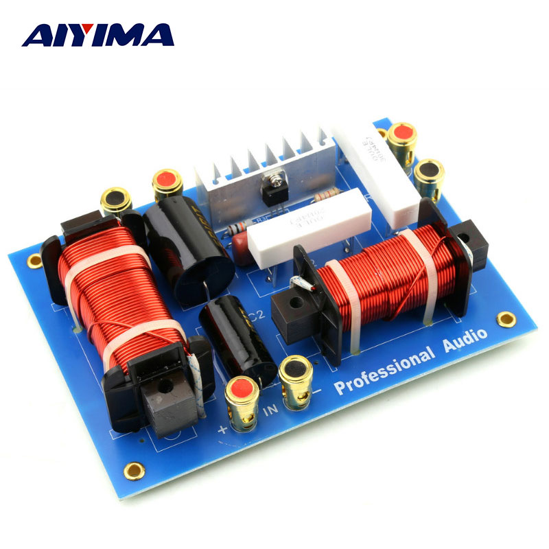 AIYIMA 1Pc Audio Speaker PA-2T Professional Frequency Divider Stage Audio Bass Treble Two Way Divider Crossover Filters ajustable treble bass frequency divider 2 way speaker audio crossover filters ck