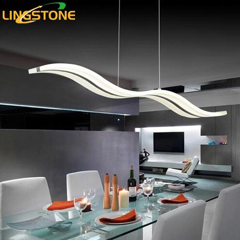 Modern LED Pendant Lights Acryl Wave Shape Creative Dining Room Bedroom Hanging Lamp Lamparas Colgantes Luminaire Home Lighting